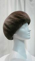 Sheared beaver small beret - Item # AC0076