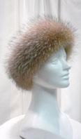 Crystal dyed fox headband - Item # AC0105