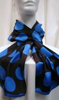 100% silk scarf with polka dots - Item # AC0120