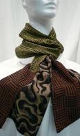 100% silk reversible scarf - Item # AC0124
