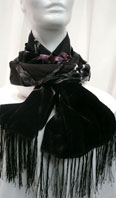 100% silk burn-out scarf with fringes - Item # AC0129