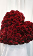 Rex rosette heart shaped pillow - Item # AC0132