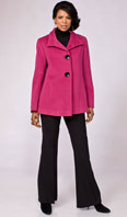 Hot pink Maresima angora/wool jacket - Item # FF0011