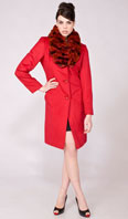<p>Lipstick red 100% Angora stroller with optional Dyed-To-Match red rex collar - Item # FF0018</p>