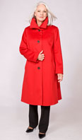 Red wool blend shortcoat - Item # FF0021