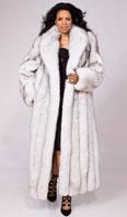 Natural blue fox coat - Item # LU0031