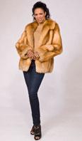 Natural red fox jacket - Item # LU0033