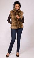 <p>Sculptured sable zip front vest - Item # LU0034</p>