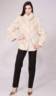 Natural pearl directional mink jacket - Item # MI0065