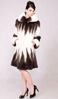 White/brown degrede female mink stroller - Item # MI0069
